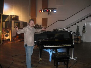 Philip Nelson in Abbey Road Studio 2. Standing where the Beatles recorded. This was a pretty awesome experience.