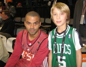 Noel and San Antonio Spurs Star, Tony Parker