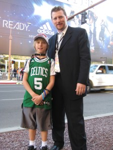 Noel and Philip Nelson at NBA All Star 2009