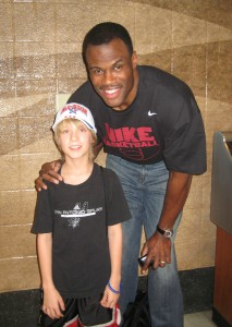 Noel and the ultimate NBA role model.. the Admiral, David Robinson.