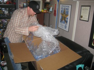 Hmm.. Lots of packing material!