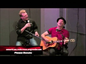 "Peter Himmelman and Philip Nelson perform ""Racing off to Nowhere"" live at the Hollywood Helps Alabama Tornado Relief webcast."